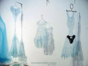 Crocheted Fishline Dresses